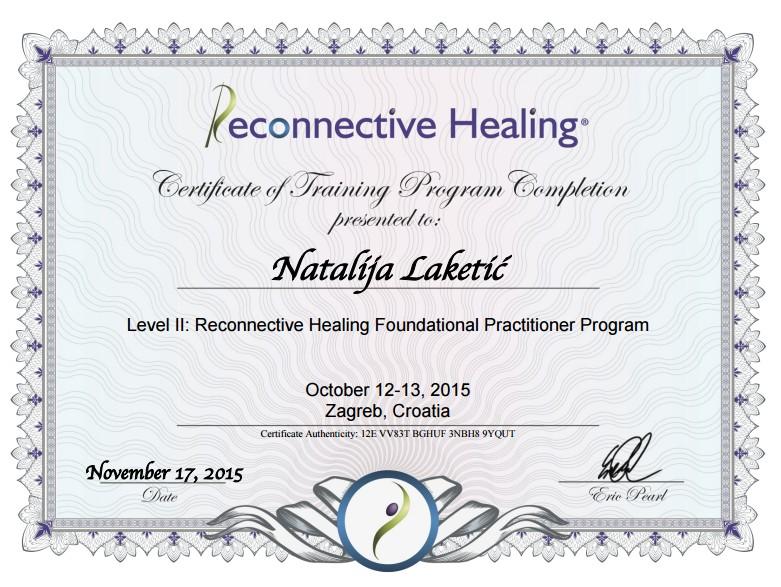 sertifikat rekonekcija natalija laketic